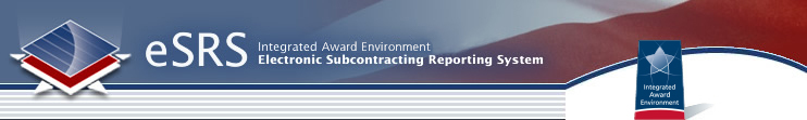ESRS Subaward Reporting System, Integrated Acquisition Environment